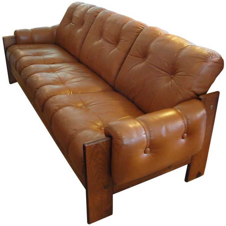Finnish Rosewood And Leather Sofa