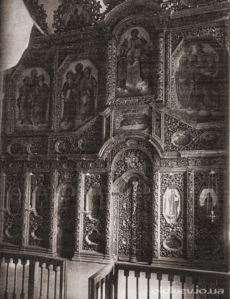 Иконостас придела св Антония в Военно Никольском соборе Деревянная резьба конца XVII века