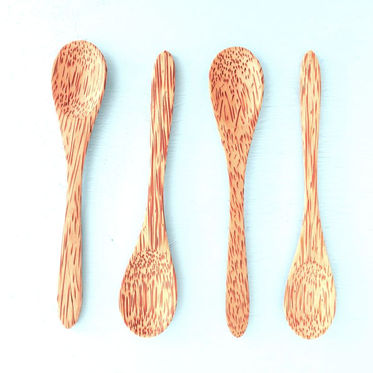 Coconut Wood Spoon - Set of 4