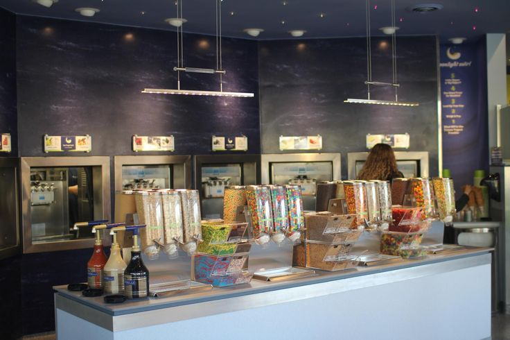 Topping Dispensers at Moonlight Swirl in Raleigh, NC #topping #dispensers #frozenyogurt #retail