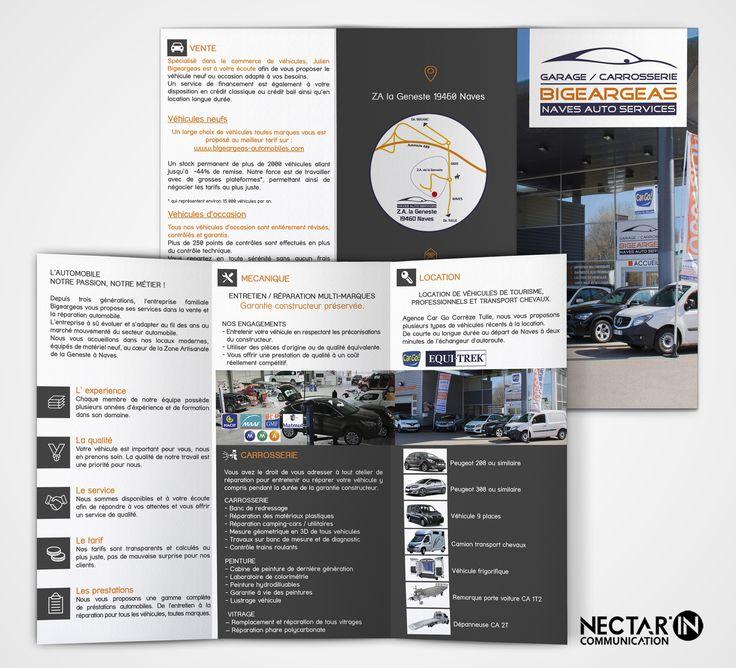 Dépliant 3 volets pour Naves Auto Services - Garage Carrosserie Bigeargeas.