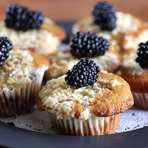 blackberry, lemon and thyme muffins