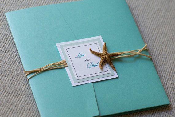 Invitación de la estrella de mar por eleven18designstudio en Etsy