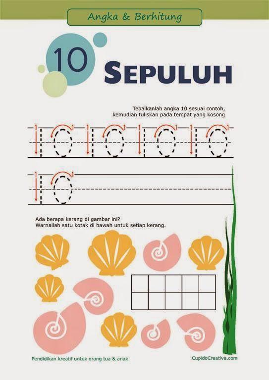 belajar paud/balita/tk, mengenal & menulis angka 1-10 sambil bermain