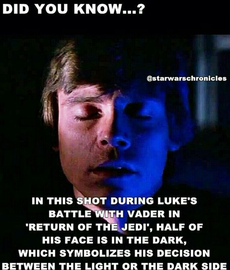 I like how Return of the Jedi shows Luke's potential for the fall to the dark side, and then in the end he overcomes the temptation, becomes a true representant of the light and redeems his father. It was nice to see the conflict within him.