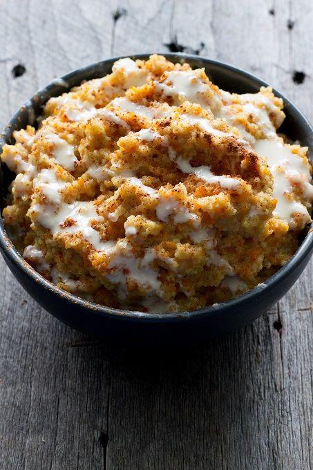 Carrot Cake Couscous Breakfast Porridge - Eat Thrive Glow