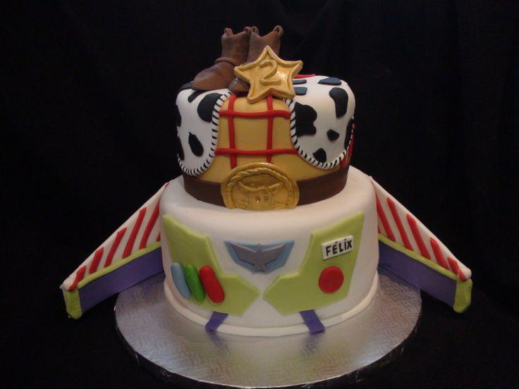 buzz lightyear & woody cake creation maman gateau