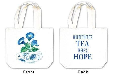 Morning Glory in Tea Cup Tea Tote with Tea and Spiced Tea Cup Mat