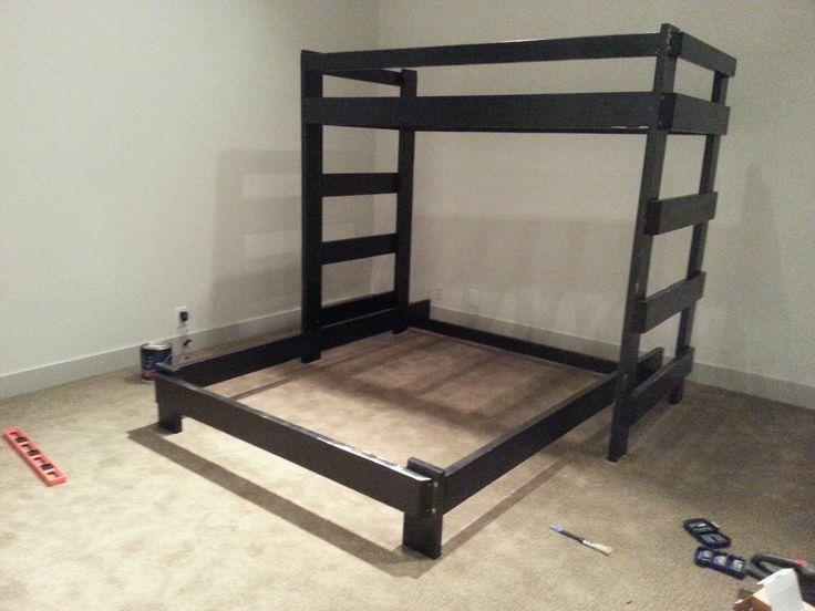 hand made bunk beds and other furniture simple bunk bed for children or cabins - Einfache Hausgemachte Etagenbetten