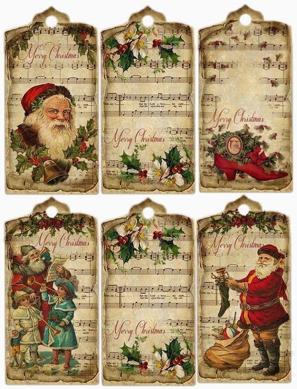 Marchando una de etiquetas de Navidad!!!   Esta primera entrega son vintage  Enlaces:   http://chezmamoune.canalblog.com/archives/2011/12/20...