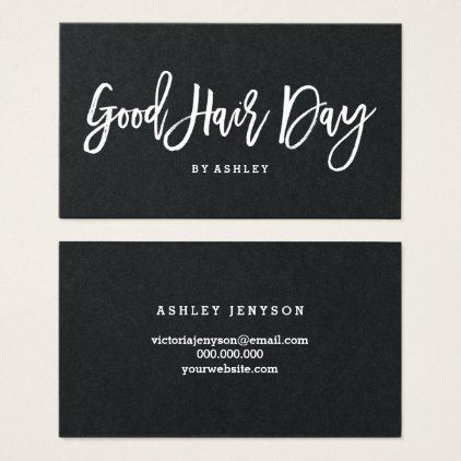 Hair logo elegant typography business card - chic design idea diy elegant beautiful stylish modern exclusive trendy