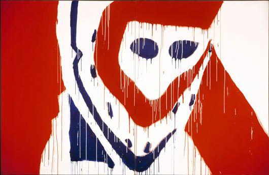 Serge Lemoyne, Acton Vale (Québec) 1941 - St-Hyacinthe (Québec) 1998, Dryden, 1975, acrylique sur toile.