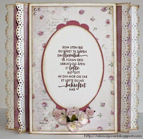 {Re}kreasjoner: Tryllekort // Magic card konfirmasjonskort - Maja Design Sofiero collection // With room for jewellery inside.
