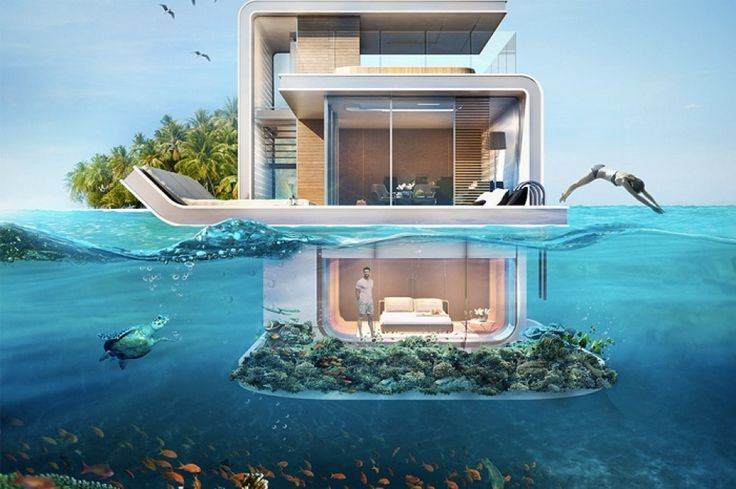 United Arab Emirates, and especially Dubai, produces grandiose projects known for their innovative approach and truly advanced concepts. This year, one of the most ambitious developing enterprises is going to be Floating Seahorse — luxury floating villas, partially hidden under water. We at A&D are in awe of this idea!