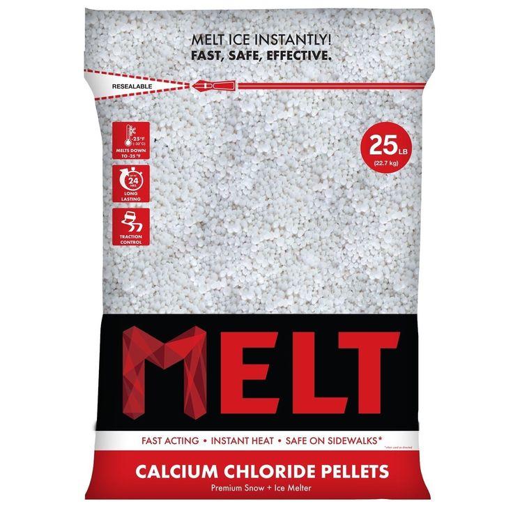 Snow Joe 25-LB Calcium Chloride Pellets Ice Melter - Resealable Bag - MELT25CCP (Calcium Chloride Pellets Ice Melter), White