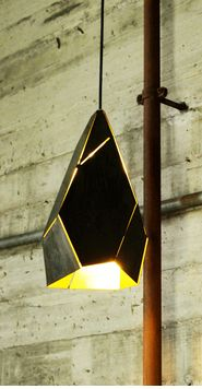 2 tone laser cut and folded pendant light