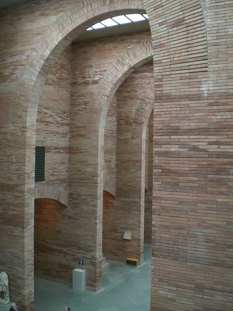 Rafael Moneo, museo de arte romano, structure1, Merida by Boris Steinweg, via Flickr