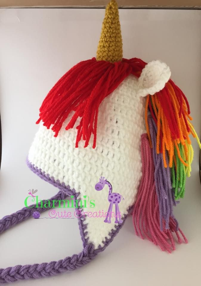 Knitting Pattern For Unicorn Hat : 3503 best images about Hooking you up with crochet on Pinterest