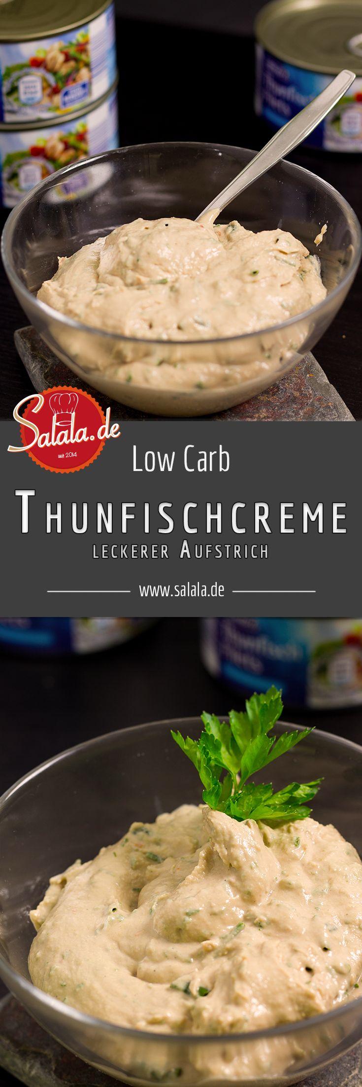 Thunfischcreme Rezepte Low Carb Brotaufstrich - by salala.de - Thunfisch Brotaufstrich einfach selber machen ketogen Proteinbombe Frühstück Tuna Spread