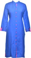 Buy Tulsattva Flex Long Kurta With Pockets Online, , LimeRoad