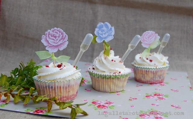 Cupcakes de fresas y champán