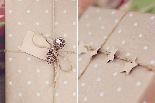 19 creative ways to wrap with brown paper at Christmas
