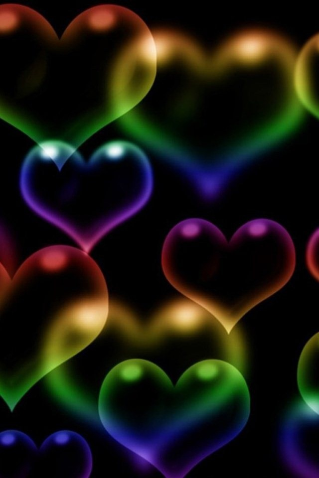 11 best colorful hearts images on Pinterest | My heart ...