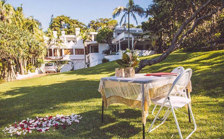 Byron Bay Elopement Celebrant - Benjamin Carlyle. Wategos Beach Wedding. Blue Tulip Imaging.
