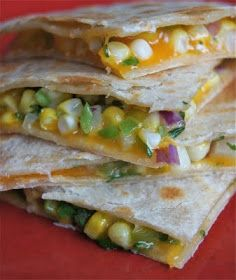 Healthy and Gourmet: Sweet Corn Quesadillas