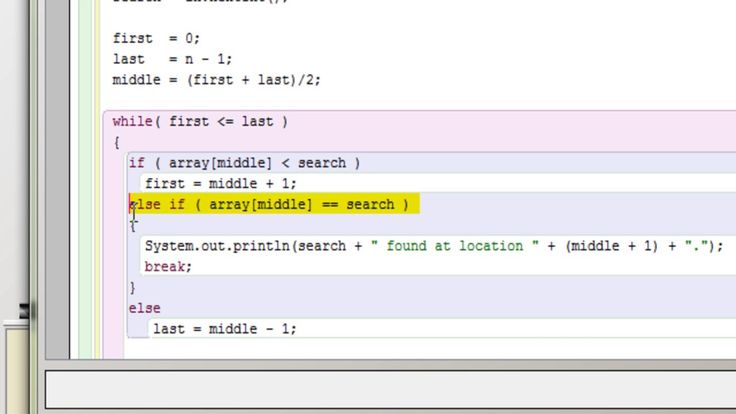 A simple example of binary search in java programs