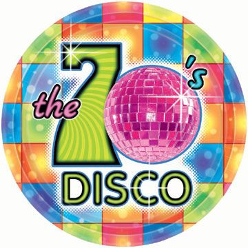 Assiettes à dessert en carton The 70's DISCO ! Vivez vos fêtes en mode Disco !