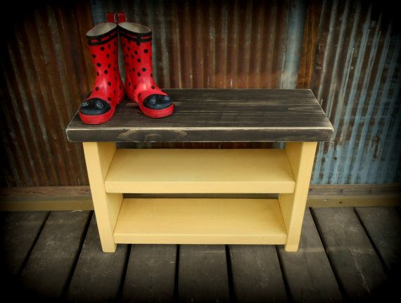 Hey, I found this really awesome Etsy listing at https://www.etsy.com/listing/129685312/kids-shoe-rack-bench-yellow-base