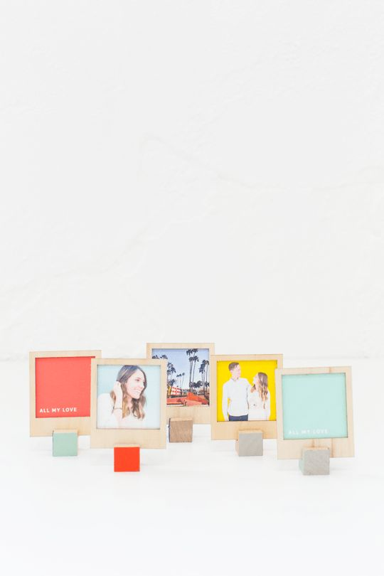 DIY wooden polaroid stands   sugar and cloth