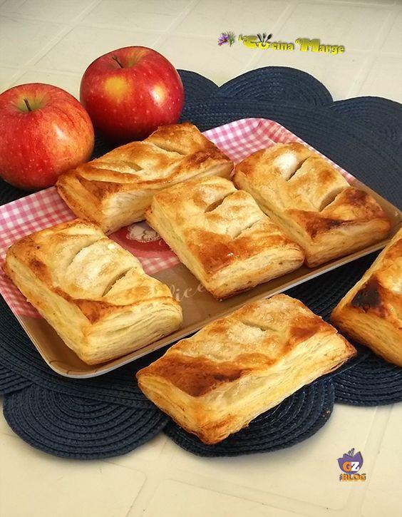 SACCOTTINI DI PASTA SFOGLIA E CUOR DI MELA,una bontà infinita ideali per la merenda o per colazione ....... http://blog.giallozafferano.it/lacucinadimarge/saccottini-pasta-sfoglia-cuor-mela/#