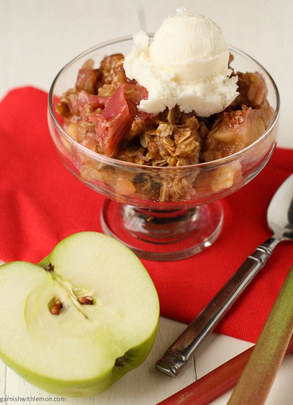 Rhubarb Apple Crisp - I need good recipes to use some of our rhubarb ...