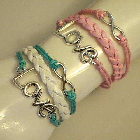 Love Infinity Leather Bracelet
