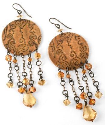"DecoEtch Artisan Copper Earrings tutorial (""Crystal Copper"" earrings by Jess Italia Lincoln): Artisan Copper, Decoetch Artisan"