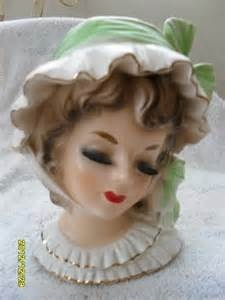Image detail for -Vintage Lady Head Vase - Long Black Lashes used, new for sale ...