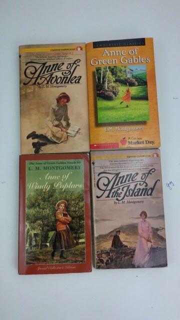 L. M. Montgomery Books 4 Lot Anne Of The Island, Windy Poplars, Green Gables +