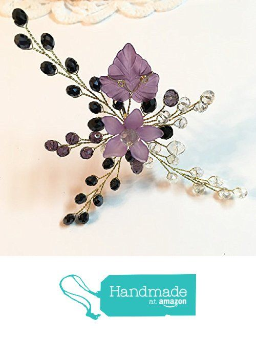 FloweRainboW Handcrafted Wedding Hair Pin Purple, Crystal Hair Pin, Hair Accessories For Mother Of The Bride, Mother Of The Groom from FloweRainboW http://www.amazon.com/dp/B01C1S8JLA/ref=hnd_sw_r_pi_dp_0VFYwb0CB6CPG #handmadeatamazon