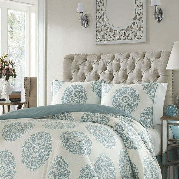 Stone Cottage Bristol 2-piece Duvet Set, Blue ($115) ❤ liked on Polyvore featuring home, bed & bath, bedding, duvet covers, blue, medallion bedding, full/queen duvet set, king size duvet sets, blue king size bedding and blue duvet sets