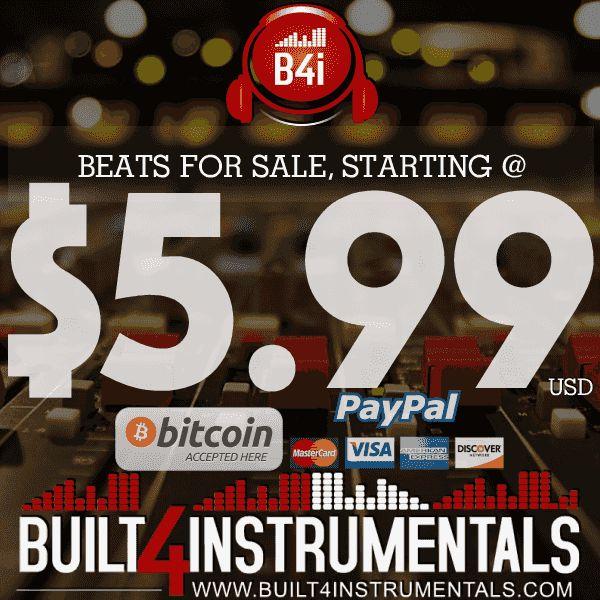 Welcome to Built4instrumentals and find high quality hip hop beats for sale, rap beats for sale, instrumentals for sale and trap beats for sale online