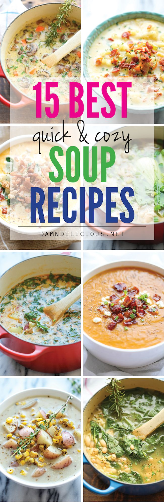 15 Best Quick and Cozy Soup Recipes #Nourishing #Soup #Delicious #Fall #Winter #Easy #Quick