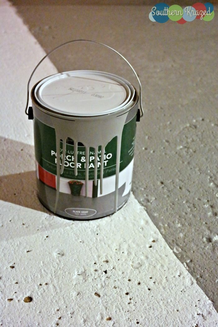 DIY Concrete Floor Project With Porch U0026 Patio Paint For A Fresh Clean Look # BEHR