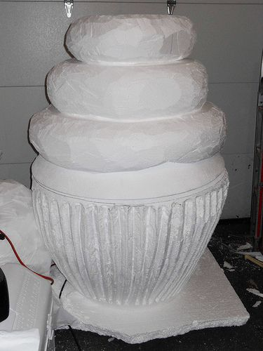 giant cupcake carved from EPS Foam, via Flickr