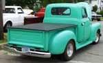 Green 1950's truck. Love it