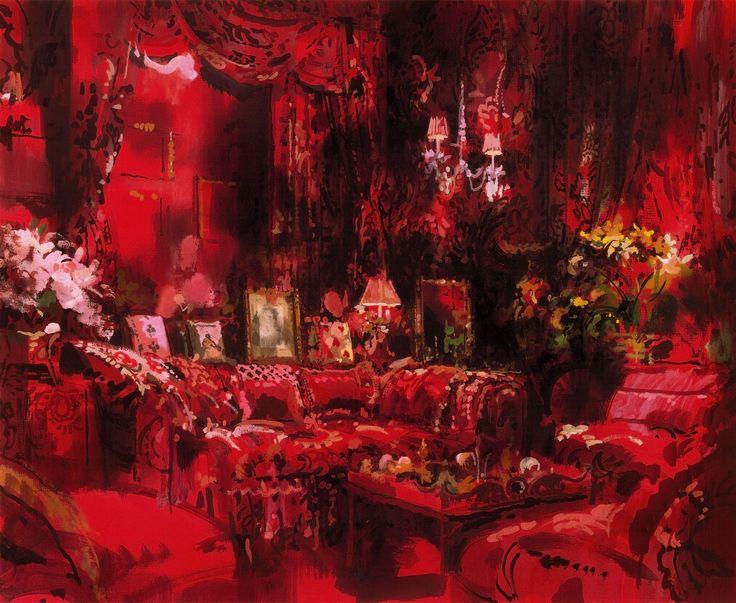 Diana Vreeland, Park Avenue Sitting Room, New York, 2000 .Диана Вриленд, Гостиная Park Avenue, Нью-Йорк, 2000. 黛安娜Vreeland,公园大道客厅,纽约,2000年。
