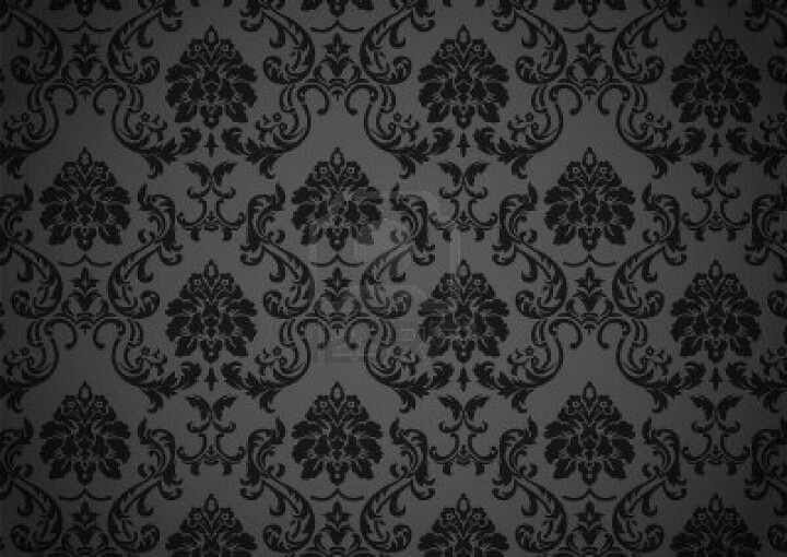 Drawing Of Dark Baroque Wallpaper Black And Grey On Revival Style