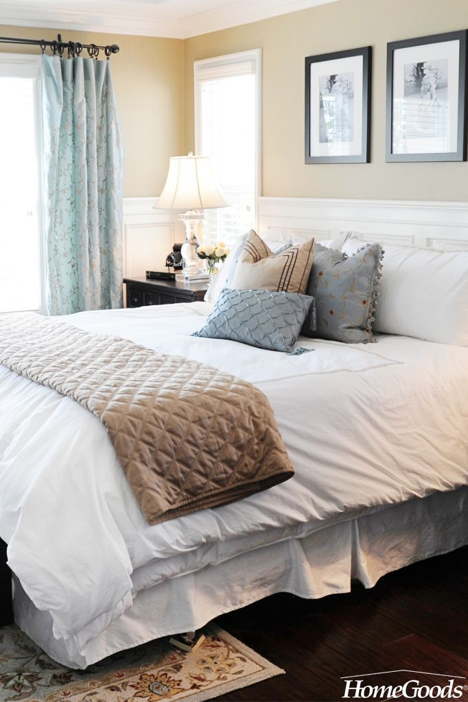 one easy way to update your bedroom is by switching up your accent throws with each season homegoods has such an amazing selection of bedding that each