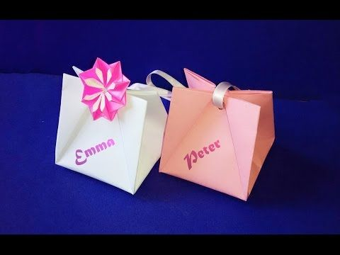 Gift Bag with Handles.  Easy to do.  Gift Wrap Ideas for Valentine's - YouTube